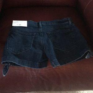 LOFT Shorts - Blue indigo jeans with ties